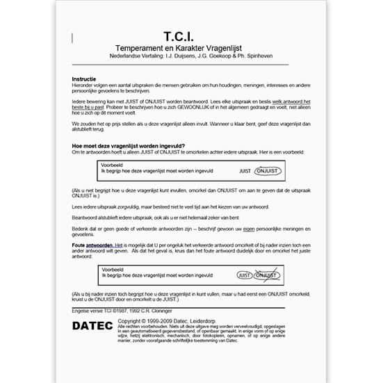 TCI Vragenlijst